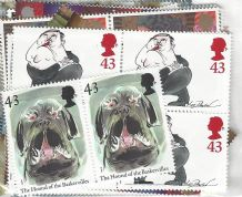 100 x 43p Cheap GB Postage Stamps (mixed designs)